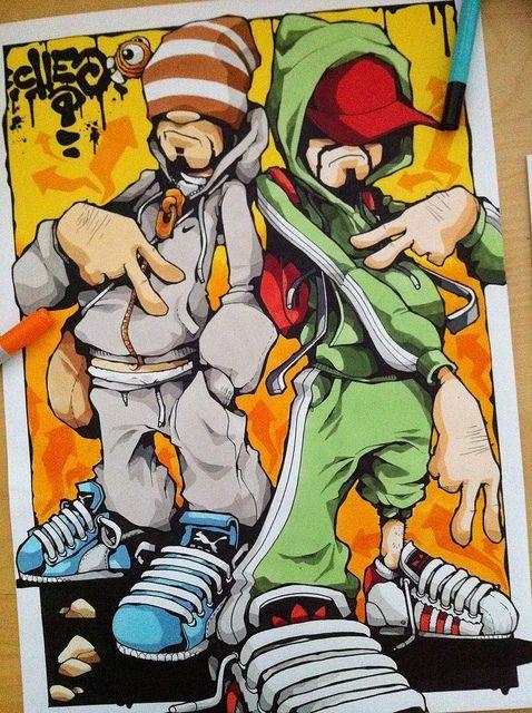 Felt Tip Smasher By Cheo Via Flickr Graffitis
