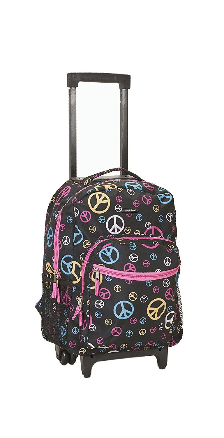 Amazon Luggage 17 Inch Rolling Backpack Peace Medium Just 15 99