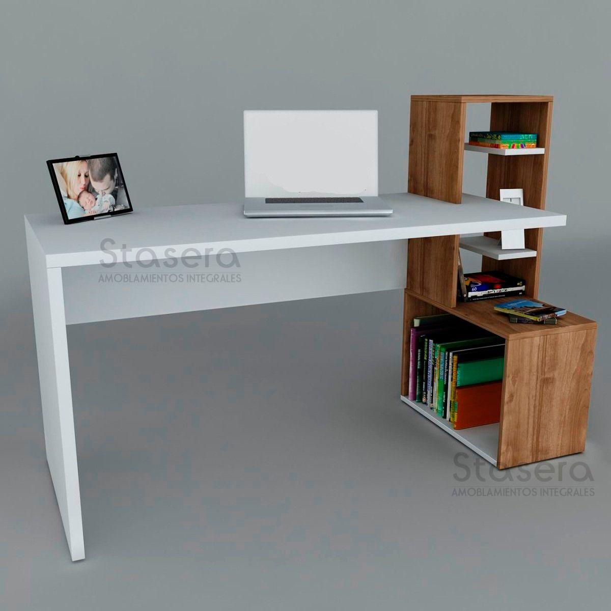 Nuevo escritorio moderno mesa pc biblioteca mueble repisa - Mueble escritorio moderno ...