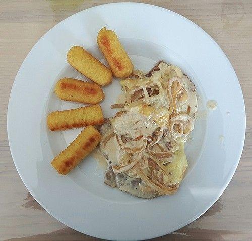 Zwiebel-Sahne-Schnitzel