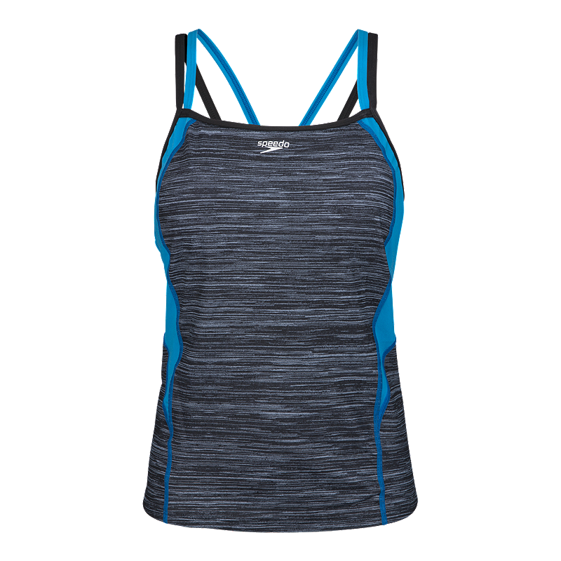 Speedo Women's Texture Double Strap Tankini Active