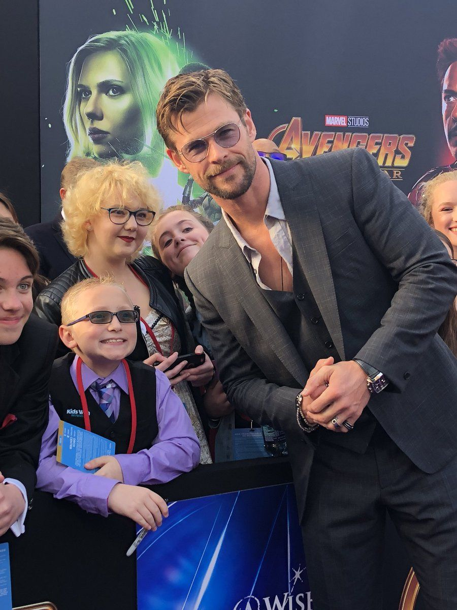 Chris Hemsworth on the premiere of Infinity War