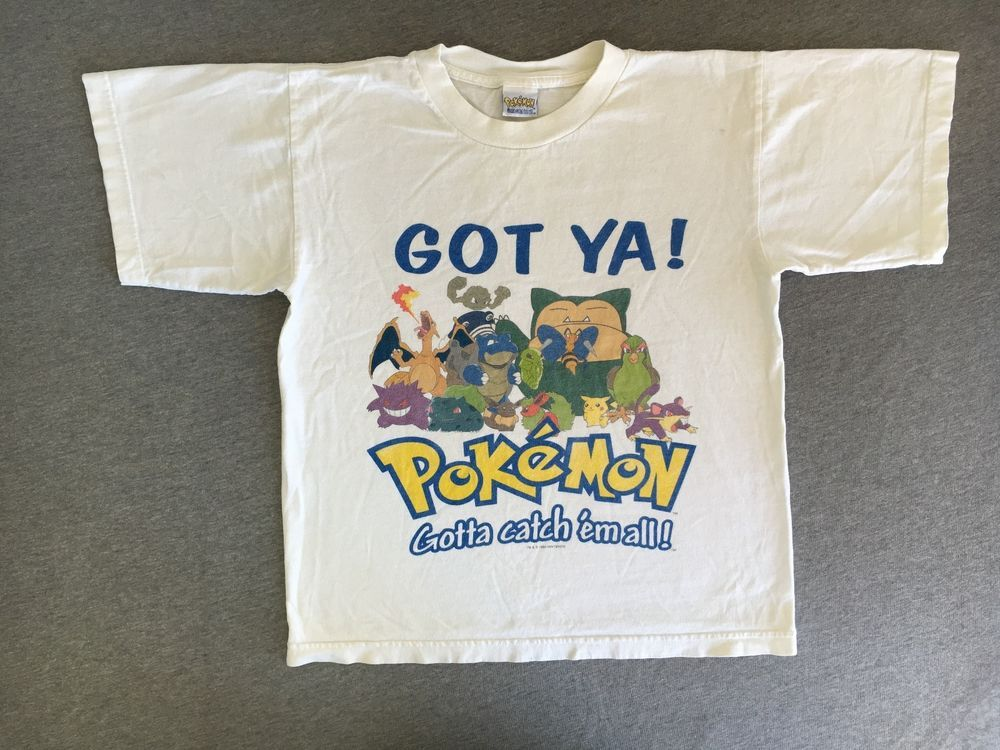 1cd3af6e5b8d87 POKEMON Shirt Got Ya VTG 1999 90s Nintendo Official Rare Pikachu Kids XL   Nintendo  GraphicTee