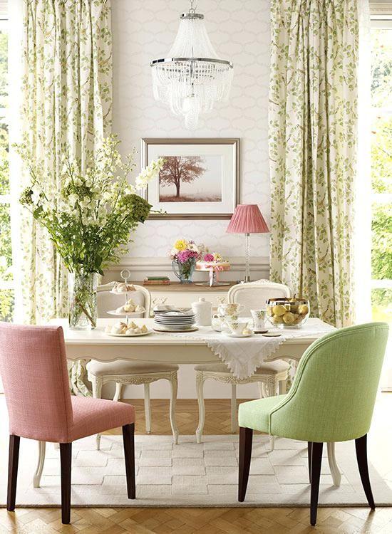 Laura Ashley Dining Table And 6 Chairs Addington Chair In Dalton Cyclamen A300 Aldwick