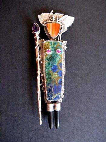 Warrior Pin, Carlyn Galerie - Jim Dunakin artist