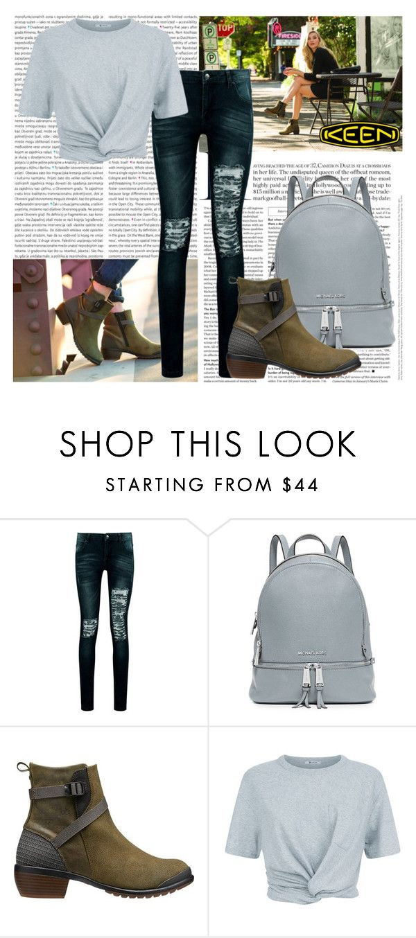 """So Fresh and So Keen: Contest Entry"" by shadow13goddess101 on Polyvore featuring Oris, Boohoo, MICHAEL Michael Kors, Keen Footwear, T By Alexander Wang and keen"