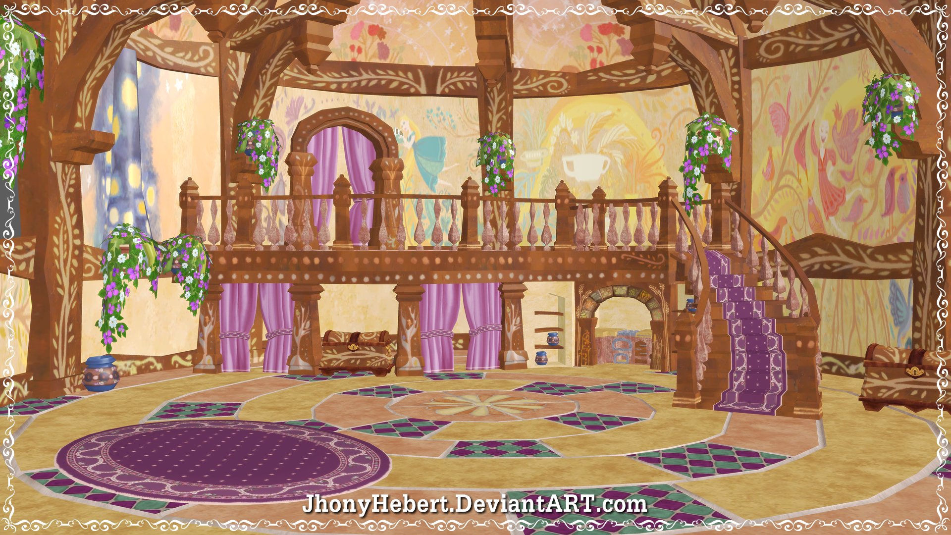 Rooms: Room Rapunzel's By JhonyHebert.deviantart.com On