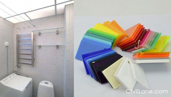 Acrylic Sheet Bathroom False Ceiling Material Alternative False Ceiling Ceiling Alternatives Acrylic Sheets