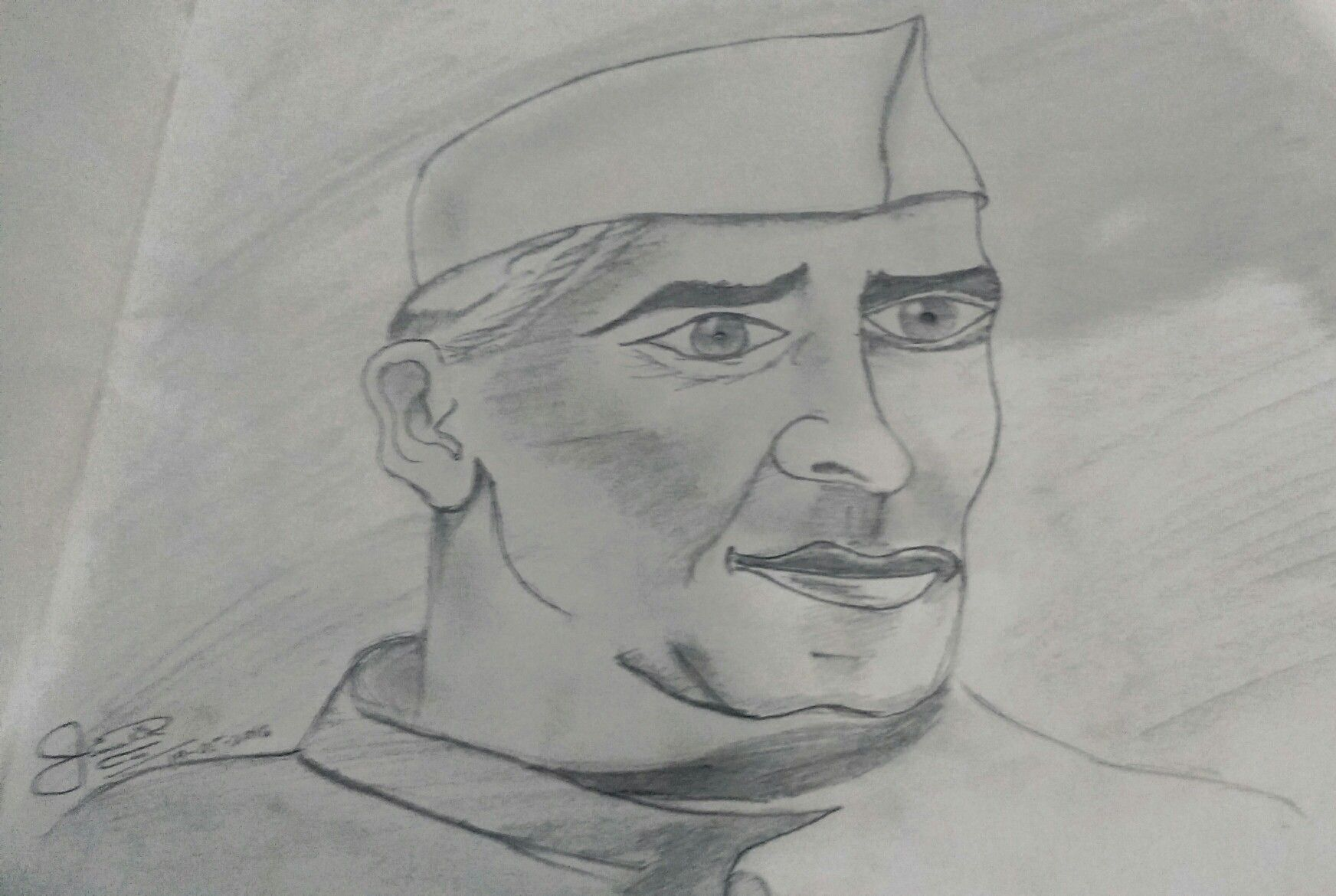 Jawaharlal nehru drawn by himali raichura😊