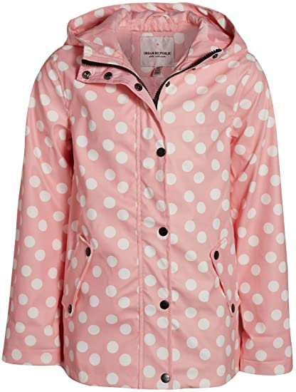 Vinyl Waterproof Raincoat Zip-Up Jacket Urban Republic Girls Lightweight Raincoat