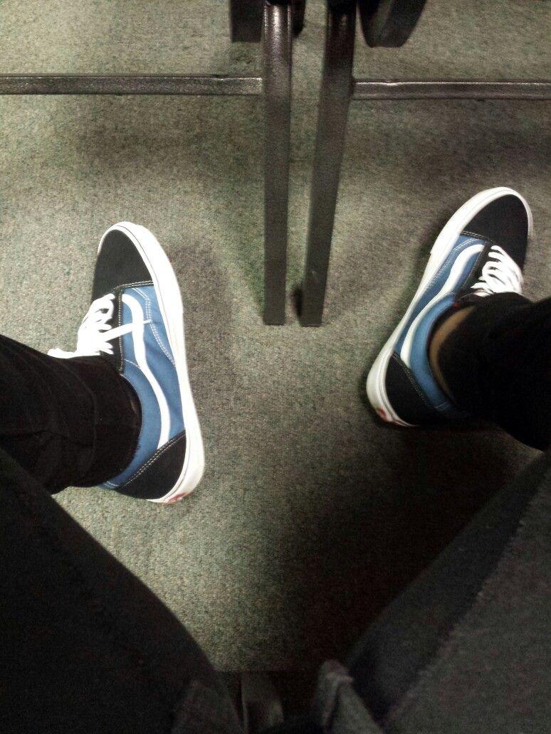 Vans Old Skool navy blue | Vans outfit