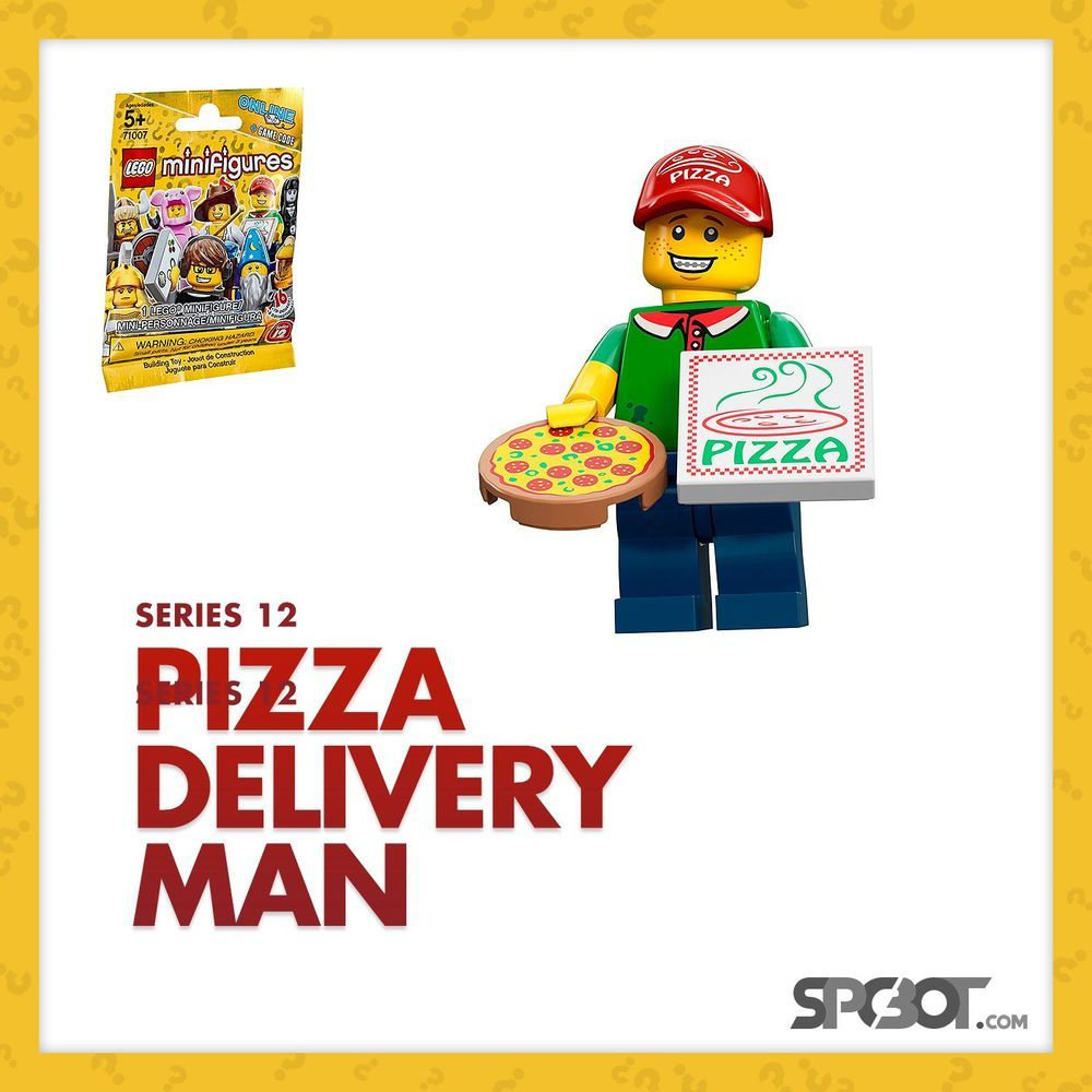 Lego Pizza Delivery Guy Minifigures Series 12 - NEW SEALED IN BAG - SHIPS FAST #LEGO #spcbot