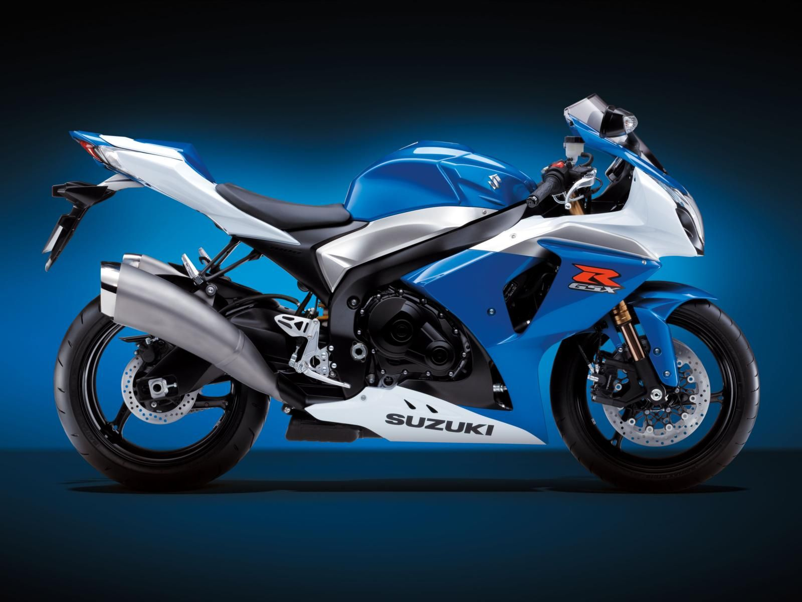 Blue Suzuki Gsx R Motorcycle Hd Widescreen Desktop Wallpaper