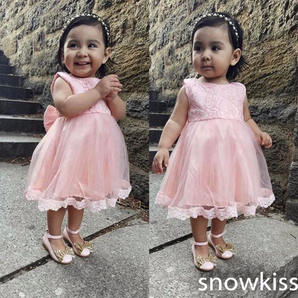 (68.00$)  Watch more here - http://aidre.worlditems.win/all/product.php?id=32802145106 - 2017 real photo pink tulle short princess children costumes O-neck lace and draped with butterfly kids dress for birthday party