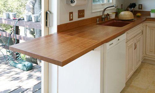 Drop Leaf Countertop Wood Countertops Kitchen Kitchen Remodel Small Rustic Countertops