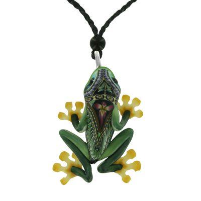 Fioré Tree Frog Necklace by Jon Stuart Anderson - Fire & Ice