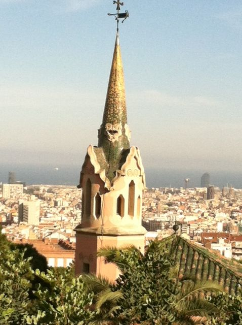 View of Barcelona , Spain from Park Guell