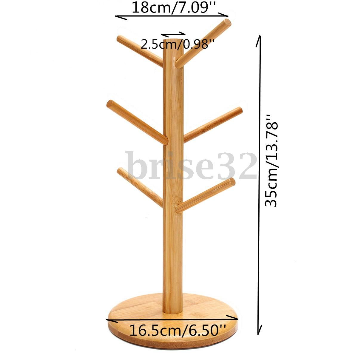 Wood Mug Tree Stand Cup Rack Cup Saucer Stand Coffee Cup Stand Tea