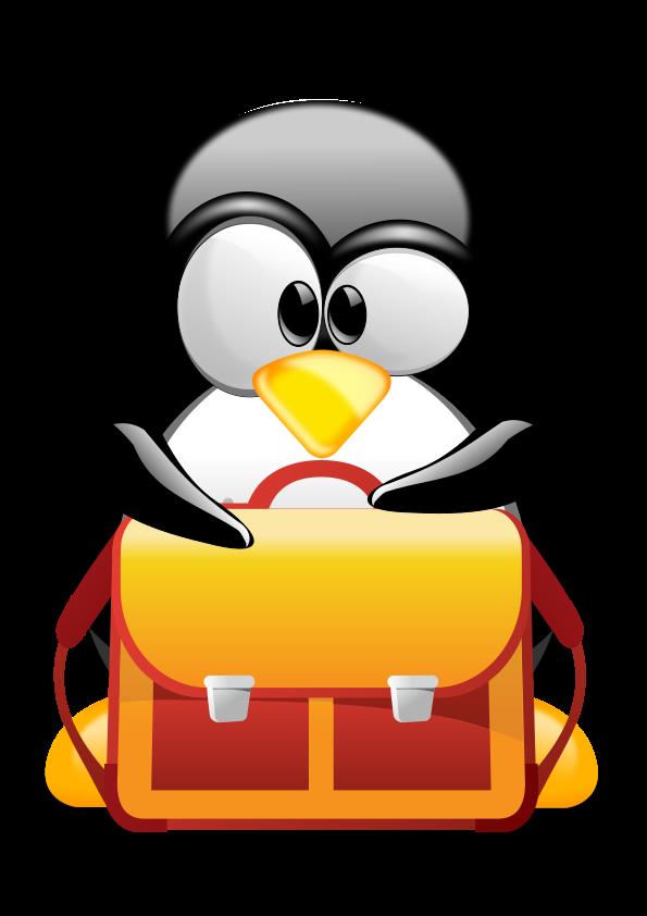 """Résultat de recherche d'images pour """"tux school""""   Penguins, Cartoon  people, Penguin love"""