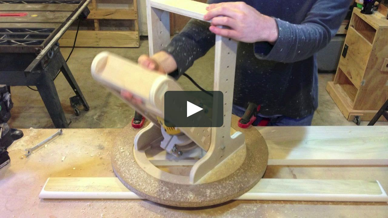 A Jig I Designed And Built To Create Perfect Spherical Dishes Of Various Radiuses In Wood Link To Plans For The Jig In 2020 Router Jig Woodworking Router Woodworking