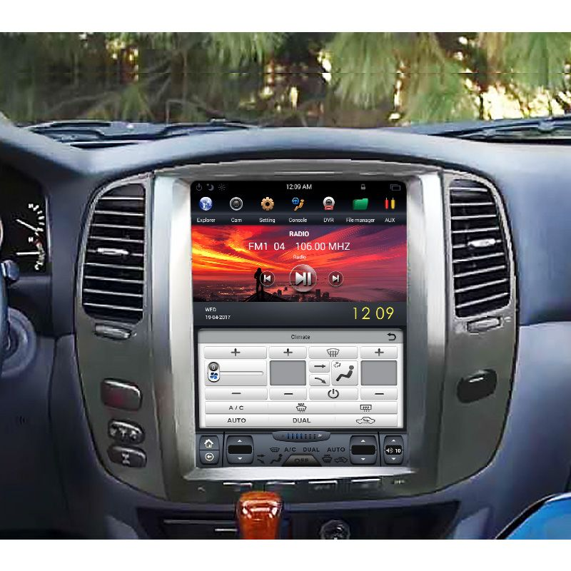 Tesla Style Vertical Screen Car Radio Car Dvd Player Android Special For Lexus Lx470 Email Stefan Nav Lexus Lx470 Toyota Land Cruiser 100 Toyota Land Cruiser