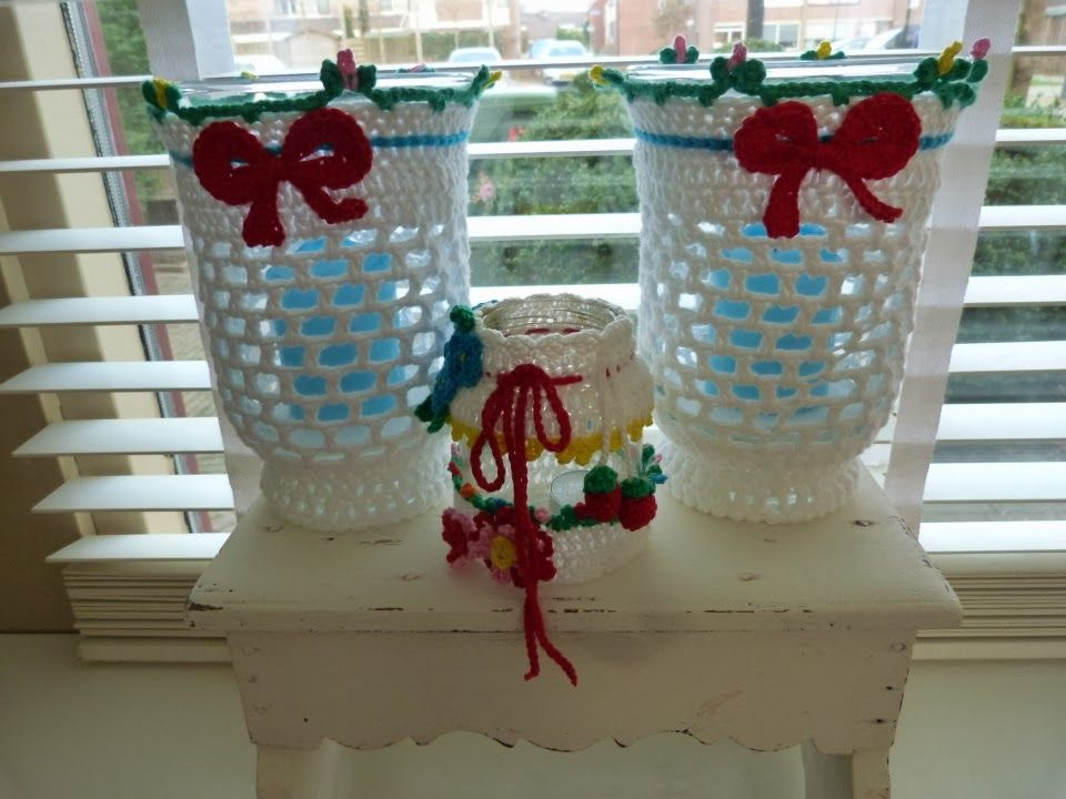 Ilona's blog: Lampje gehaakt, crochet lamp
