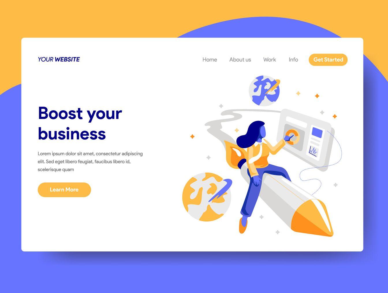 10 Business Dev Illustrations Illustrations On Ui8 Web Design Quotes Web Design Web Layout Design
