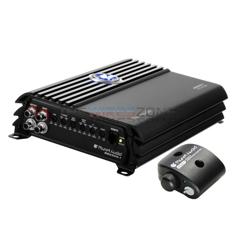 1//0 Gauge Amp Kit Planet Audio AC3000.1D 3000W Monoblock Class D Car Amplifier