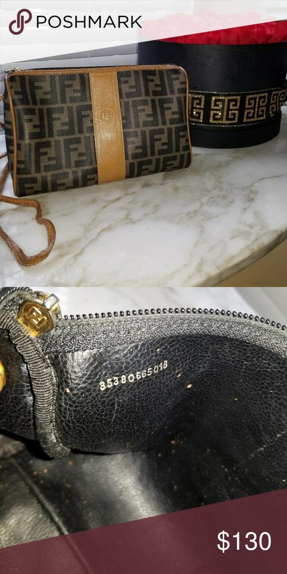 Vintage Fendi Zucca Crossbody Bag Fendi Crossbody Bag Bags