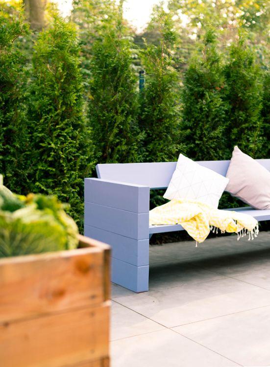 Gartenlounge holz bauen  Gartenbank Jule selber bauen - Gartenmöbel | Pinterest | Selber ...