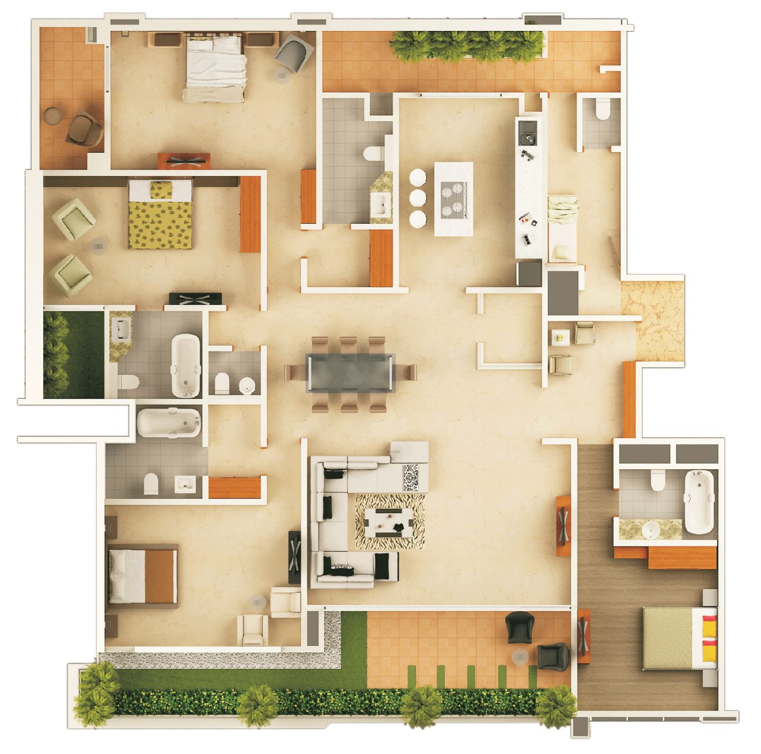 3d Floor Plan Apartment - Google Search In 2019
