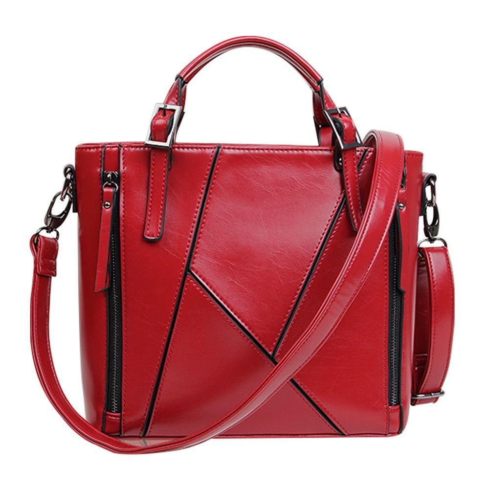 British Style Solid Color Motorcycle Handbag Shoulder Messenger Bag #womenfashion