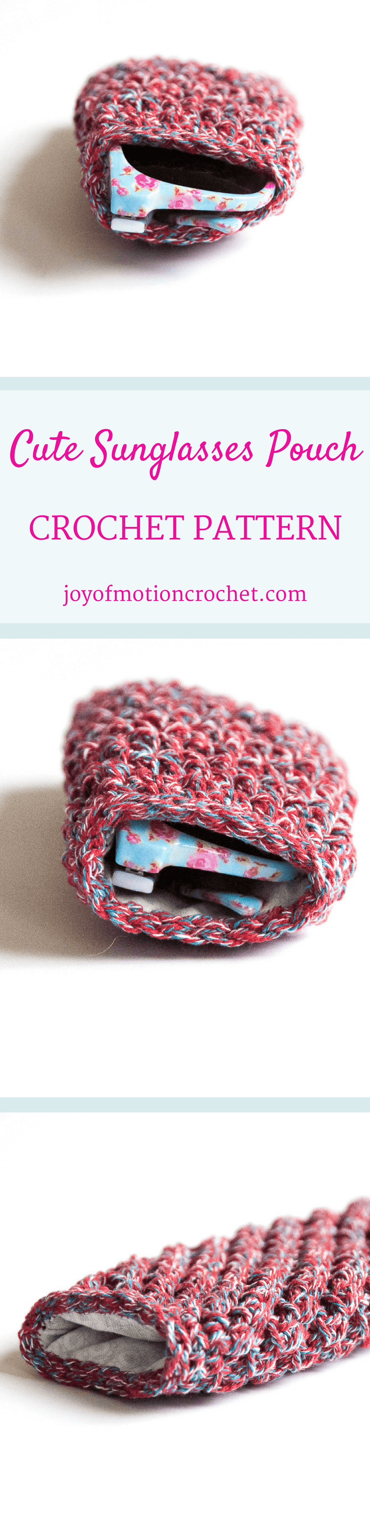 Cute Sunglasses Pouch Crochet Pattern | croche | Pinterest | Tejido ...