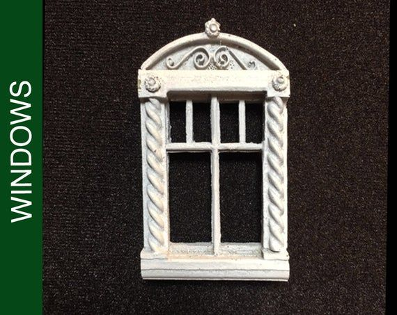212 Sm. Roman Style Dollhouse Window | Dollhouse Accessories | Dollhouse Fixtures | Dollhouses | Dollhouse Windows | Miniatures #dollhouseaccessories