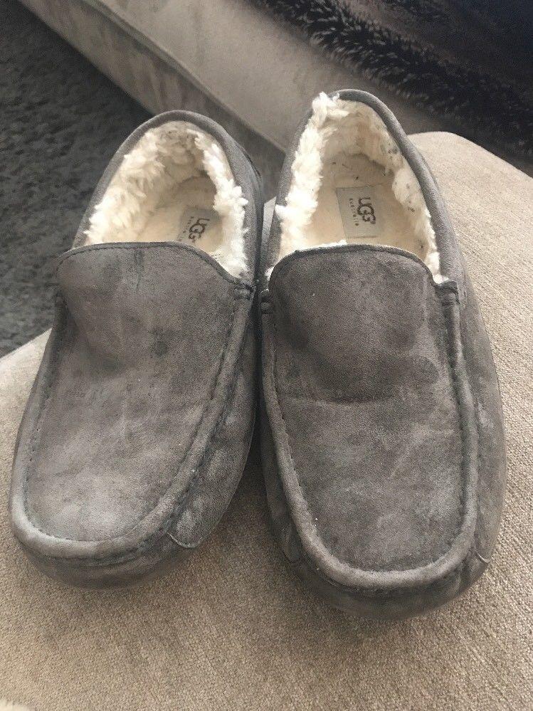8503c4aac0f0f UGG Australia 5775 Ascot Suede Slipper in Gray Men's Size: 11 ...