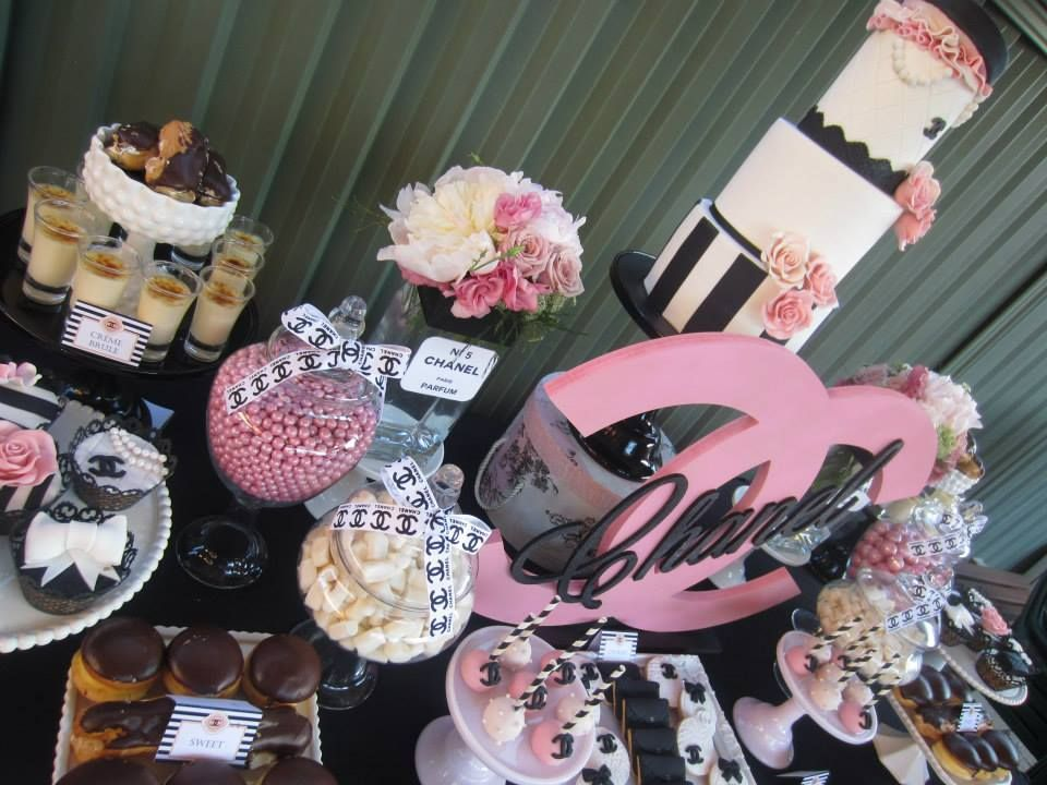 Chanel Party Via Babyshowerideas Chanelparty Chanel Party Ideas