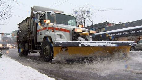 A Vancouver city councillor is questioning why he saw bike routes in the city getting cleared of snow during Wednesday's storm while nearby major bus routes seemed to be ignored.
