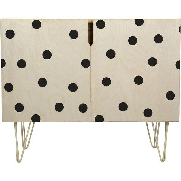 Garima Dhawan Vintage Dots Black Sideboard DENY Designs ❤ liked on Polyvore featuring home, furniture, storage & shelves, sideboards, black vintage furniture, vintage furniture, deny designs, vintage buffet и vintage home furniture