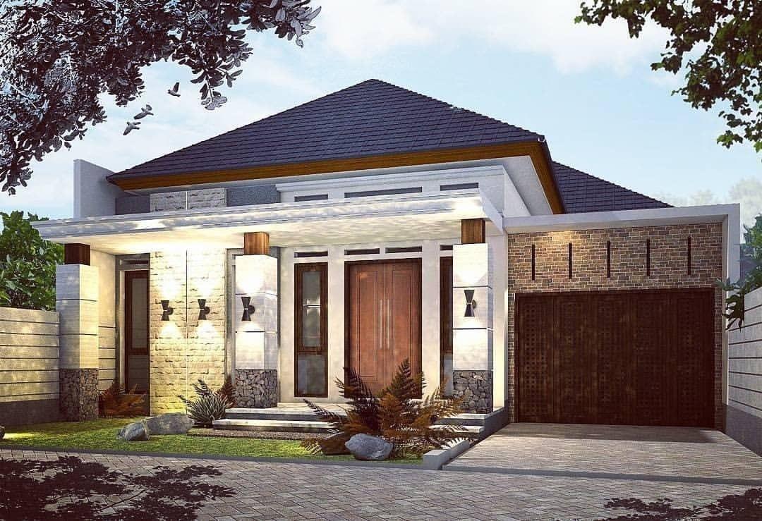 Rumah Minimalis Sederhana Modern 1 Lantai Rumah Minimalis Rumah Desain Eksterior