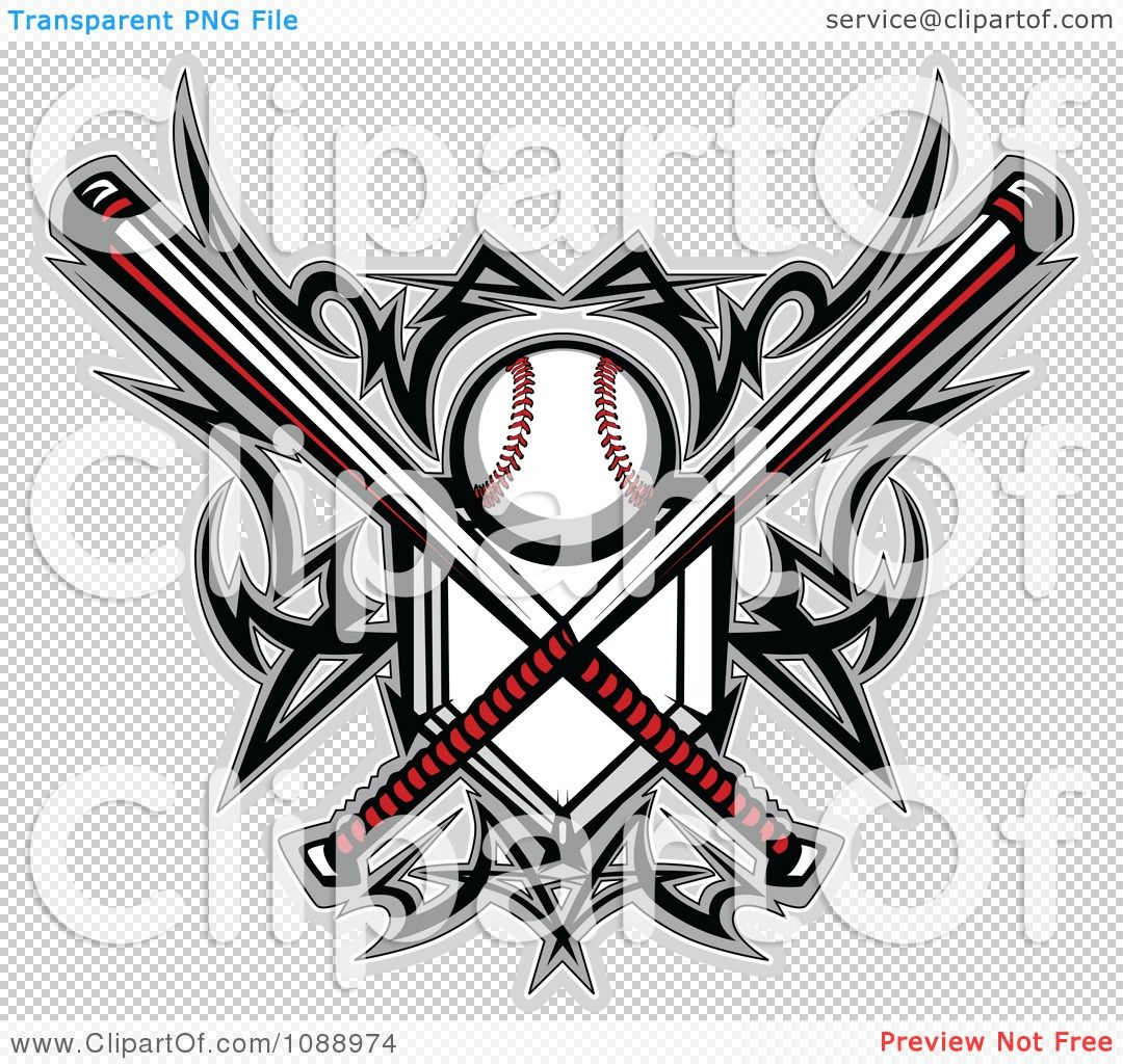 186383ce44a7d Baseball Tattoo Designs | Clipart Tribal Baseball Home Plate With ...