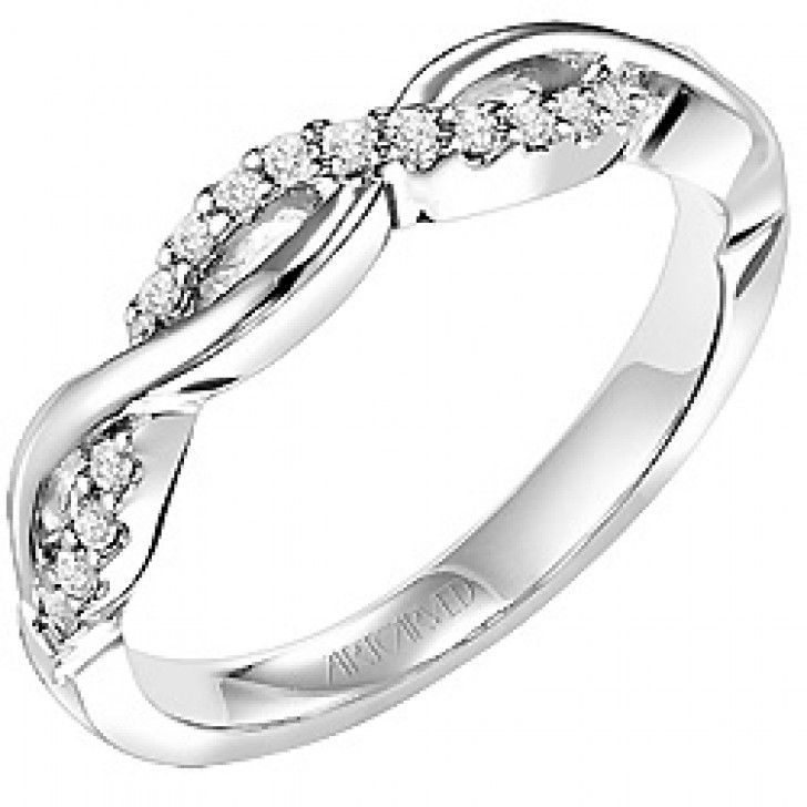 Gabriella ArtCarved Diamond Wedding Band