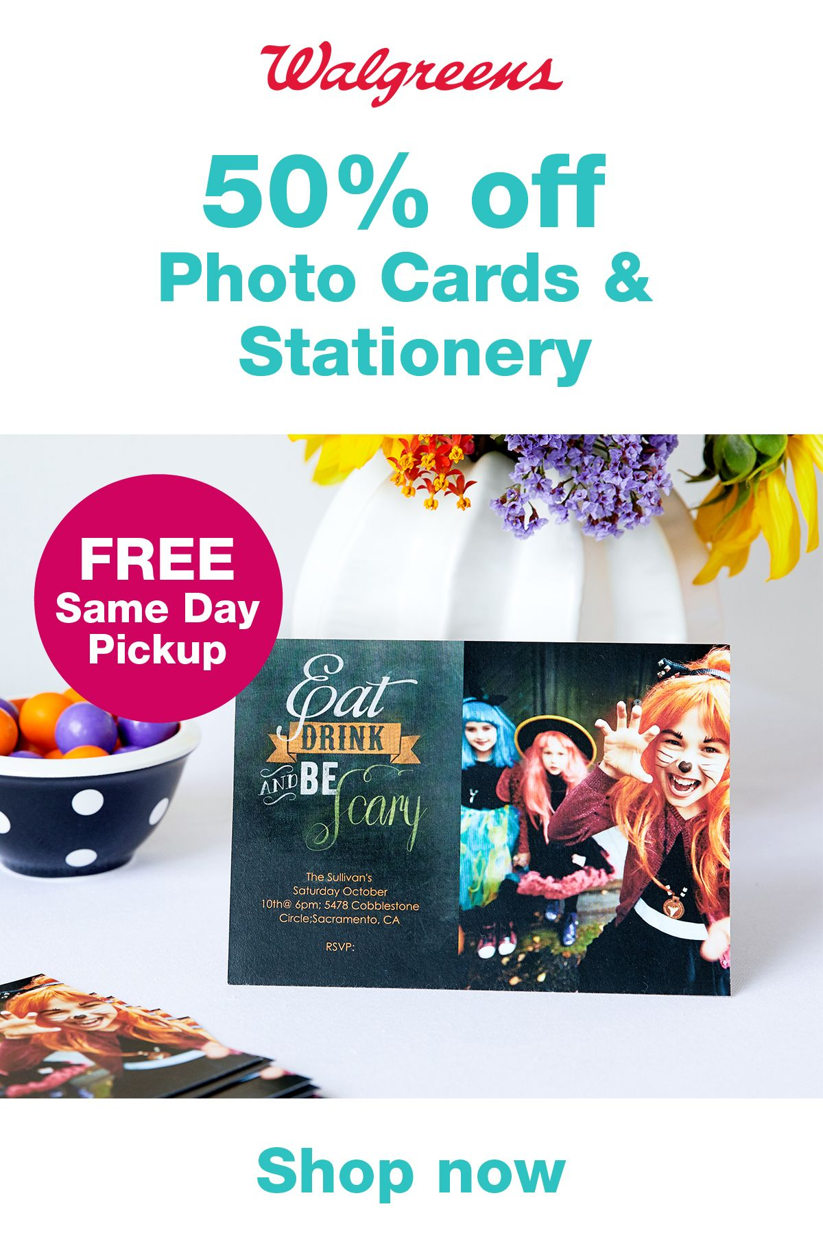 Get 50 OFF Photo Cards & Stationery with code GOOD50 thru