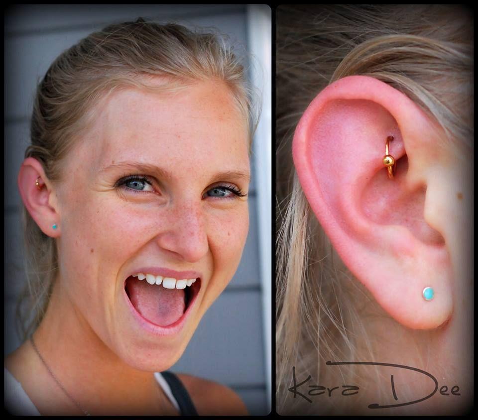 The happiest rook piercee Ear Piercings Weve Done Pinterest