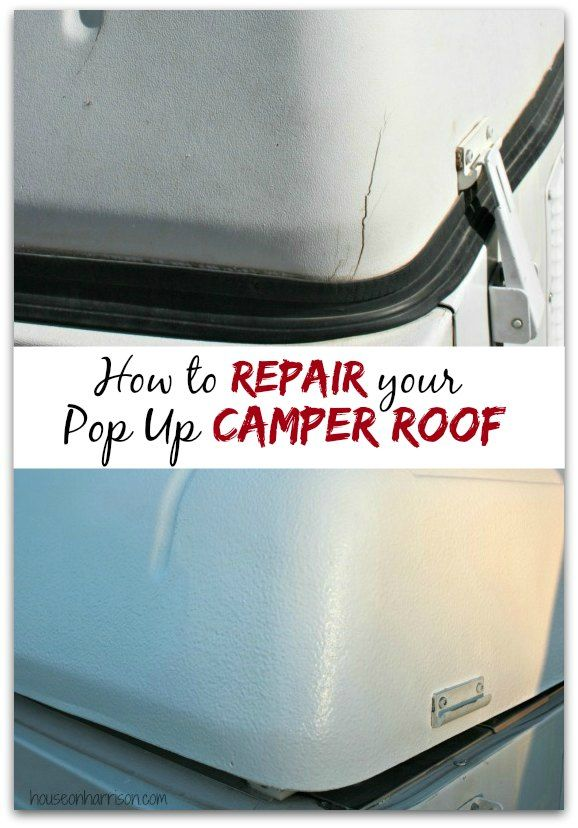Pop Up Camper Remodel  Repairing A Coleman Abs Roof