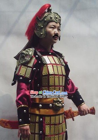 a9e6263e6 Ancient Chinese General Armor Costumes Full Set | Costume-Cosplay ...