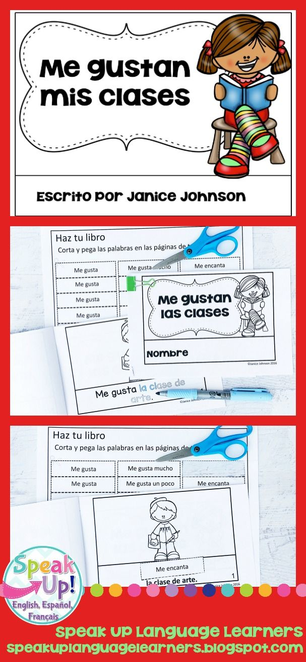 Mis Clases Spanish Verb Gustar Classes Reader Print Boom Cards Espanol Teacher Resources How To Speak French Teaching French [ 1311 x 607 Pixel ]