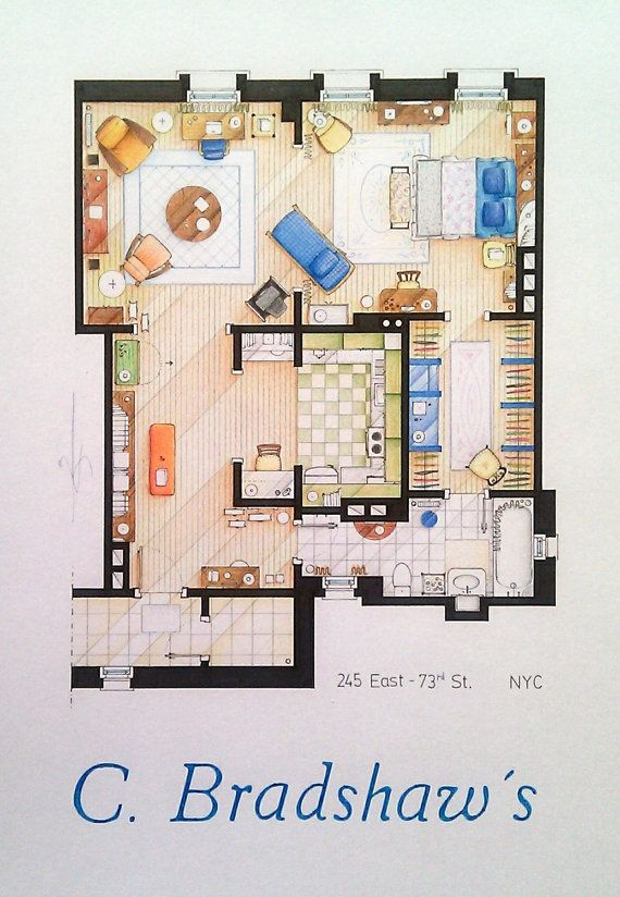 I Want To Live There Floorplans From Famous TV Shows