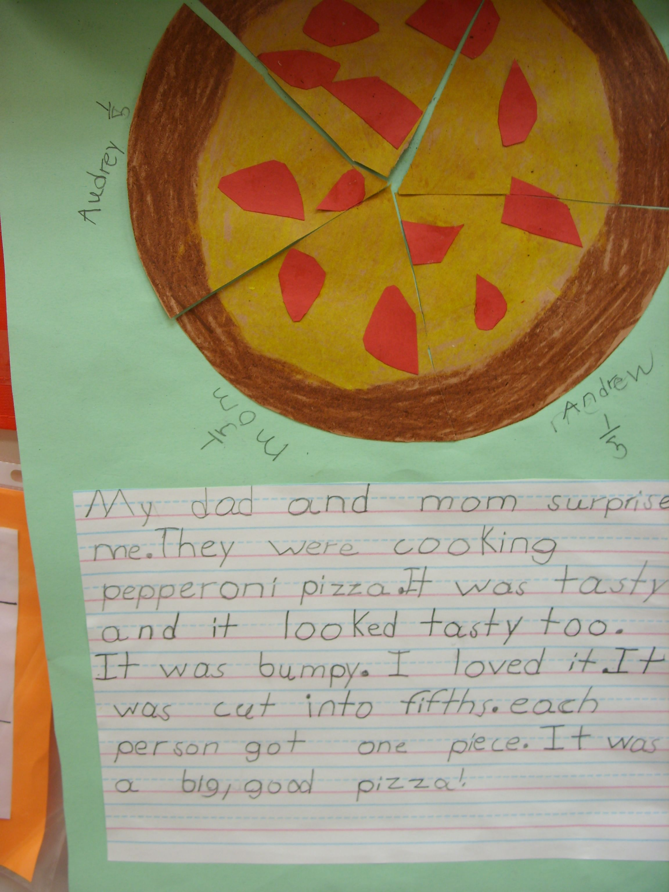 First Grade Fractions And Literacy