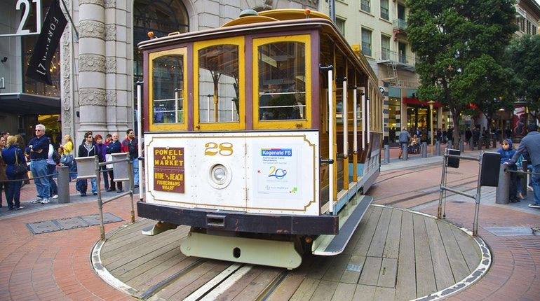 Powell St Cable Car Turnaround San Francisco Usa Attractions San Francisco Travel San Francisco Travel Guide Sf Travel