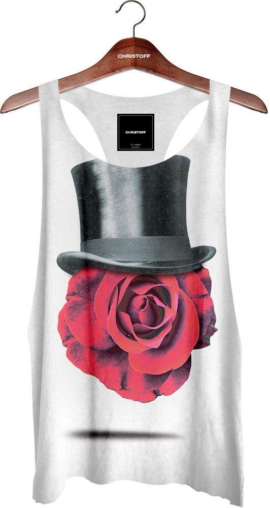 eeab9a05d3 Regata Cavada - Rose Face 100% algodão. Cor branca. Corte diferenciado a  fio na gola